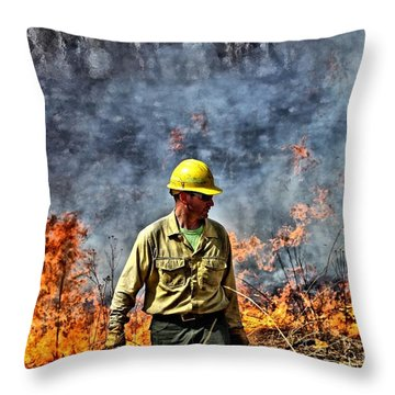 Into The Flames 1 Throw Pillow