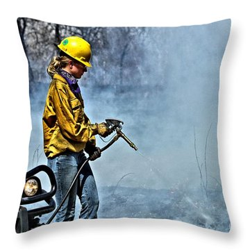Into The Flames 2 Throw Pillow