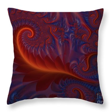 Into The Flames Throw Pillow