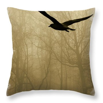Throw Pillow featuring the photograph Into The Fog by Harry Spitz