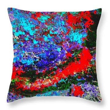 Into The Forest Of Midnight Throw Pillow