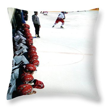 Into The Game Throw Pillow by Al Bourassa