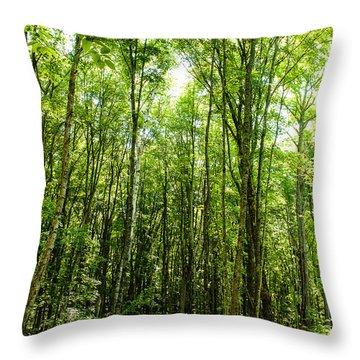 Into The Green Throw Pillow