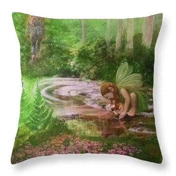 Into The Hollow Hills Throw Pillow