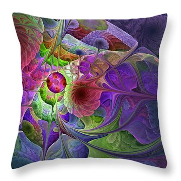 Throw Pillow featuring the digital art Into The Imaginarium  by NirvanaBlues