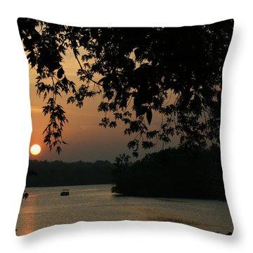 Into The Lake Throw Pillow