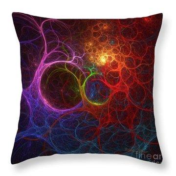 Throw Pillow featuring the digital art Into The Light by Deborah Benoit