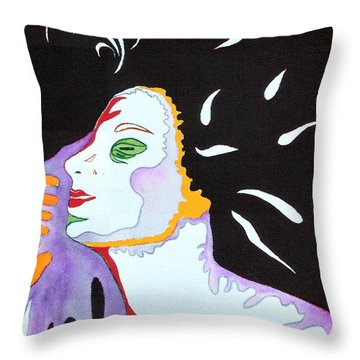 Throw Pillow featuring the painting Into The Light by Diana Bursztein
