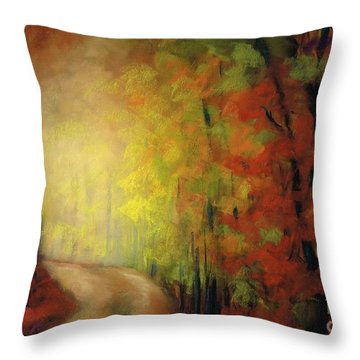 Into The Light Throw Pillow by Frances Marino