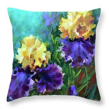 Into The Light Iris Garden Throw Pillow