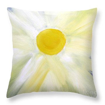 Throw Pillow featuring the painting Into The Light by Karen Nicholson