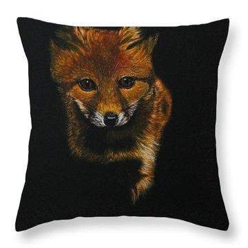 Into The Light......fox Kit Throw Pillow