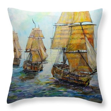 Into The Mediterranean Throw Pillow