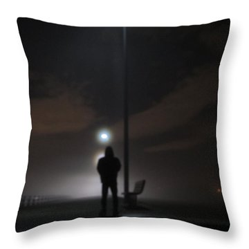 Throw Pillow featuring the photograph Into The Mist by Digital Art Cafe