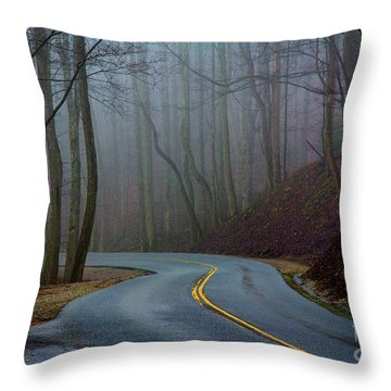 Into The Mist Throw Pillow by Douglas Stucky