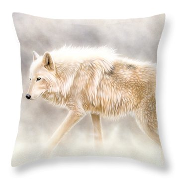 Into The Mist Throw Pillow by Sandi Baker