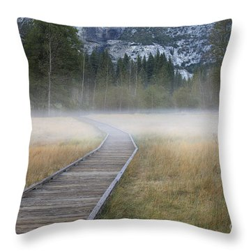 Throw Pillow featuring the photograph Into The Mist by Sandra Bronstein