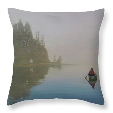 Into The Mistic Throw Pillow