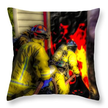 Into The Mouth Of The Dragon Throw Pillow by Jim Lepard