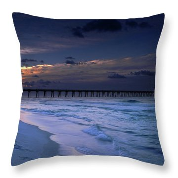 Throw Pillow featuring the photograph Into The Night by Renee Hardison