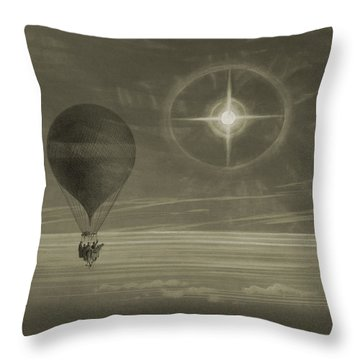 Into The Night Sky Throw Pillow