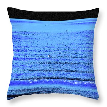 Into The Ocean Void Throw Pillow