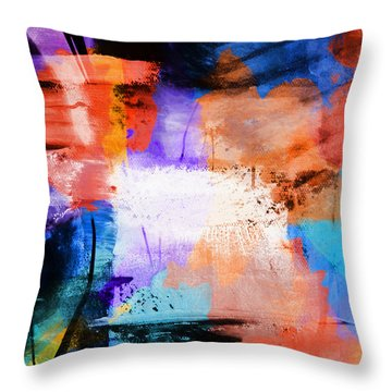 Throw Pillow featuring the painting Into The Open by Dan Sproul