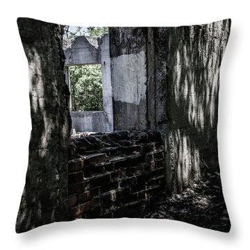 Into The Ruins 4 Throw Pillow
