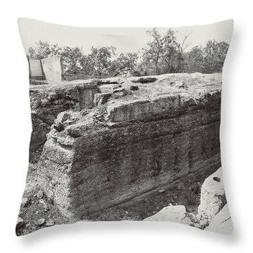 Into The Ruins 5 Throw Pillow