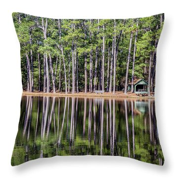 Into The Sc Woods Throw Pillow
