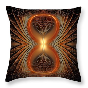 Into The Spider Den Throw Pillow by Deborah Benoit