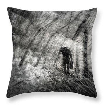 Throw Pillow featuring the photograph Into The Storm by Gray  Artus