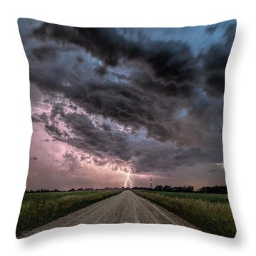 Into The Storm Throw Pillow by John Crothers