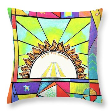 Into The Sun Throw Pillow by Jeremy Aiyadurai