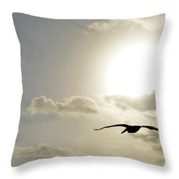 Into The Sun Throw Pillow by Sebastien Coursol