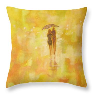 Into The Sunset Throw Pillow by Raymond Doward