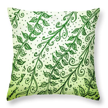 Into The Thick Of It, Green Throw Pillow