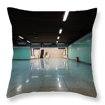 Into The Tunnel Throw Pillow