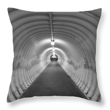 Throw Pillow featuring the photograph Into The Tunnel by Juli Scalzi