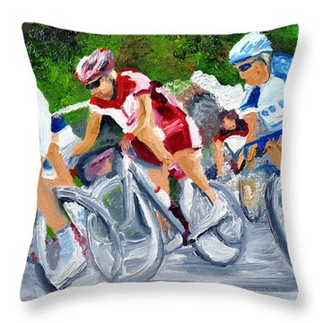 Into The Turn Throw Pillow by Michael Lee
