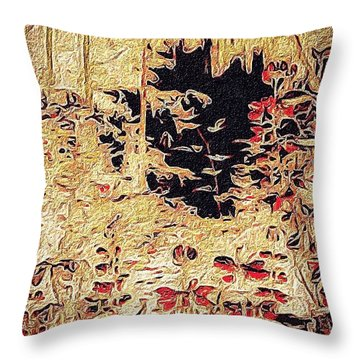 Into The Unknown Throw Pillow by William Wyckoff