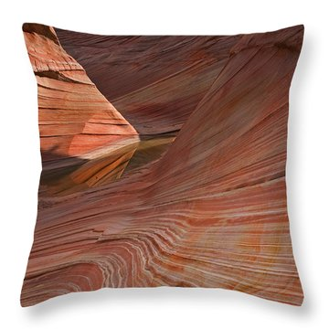 Into The Wave Throw Pillow by Mike  Dawson