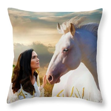 Throw Pillow featuring the digital art Into The Wind by Melinda Hughes-Berland