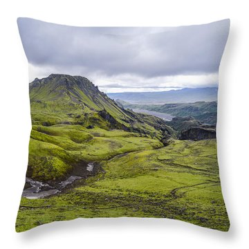 Into Thorsmork Throw Pillow