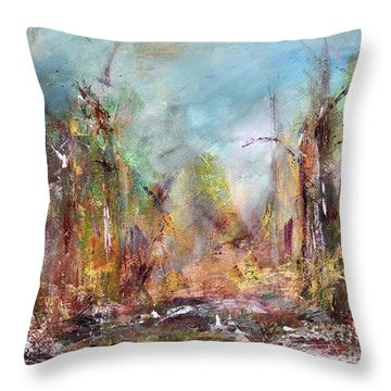 Into Those Woods Throw Pillow