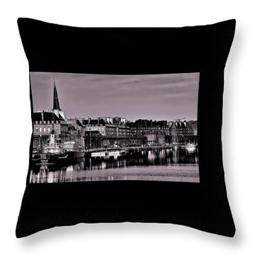 Throw Pillow featuring the photograph Intra Muros At Night by Elf Evans