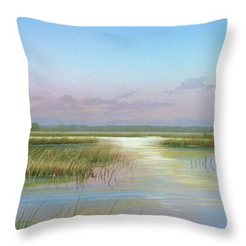 Intracoastal Glimmer Throw Pillow