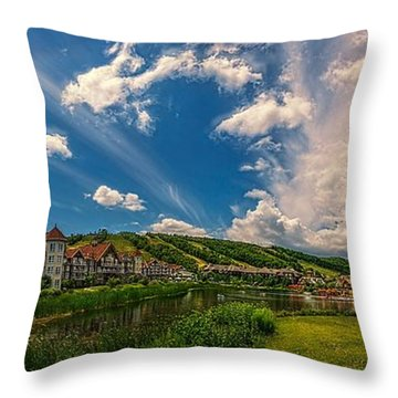Intrawest Four Season Resort Throw Pillow