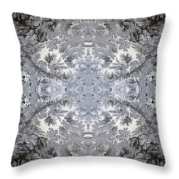 Intricate Frost Pattern Throw Pillow