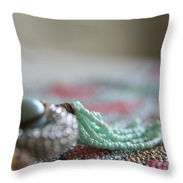 Intricate Too Throw Pillow by Lynn England